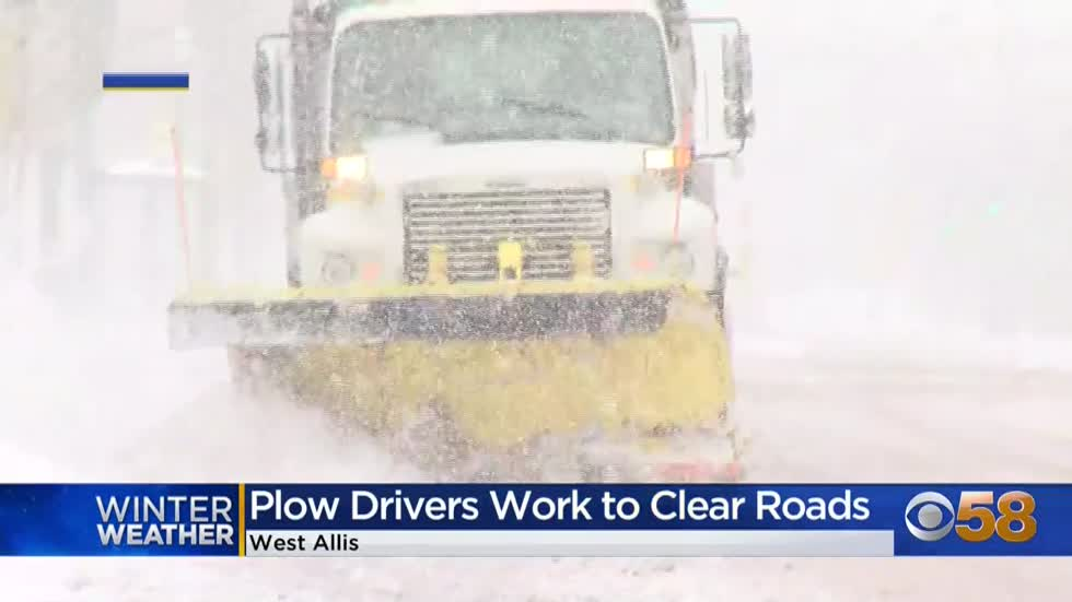 West Allis plow drivers work to clear roads